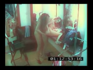 Lesbičky zachycené průmyslovou kamerou